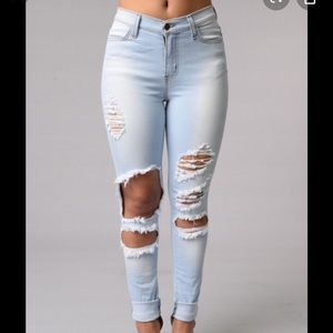 Fashion nova beach bum jeans